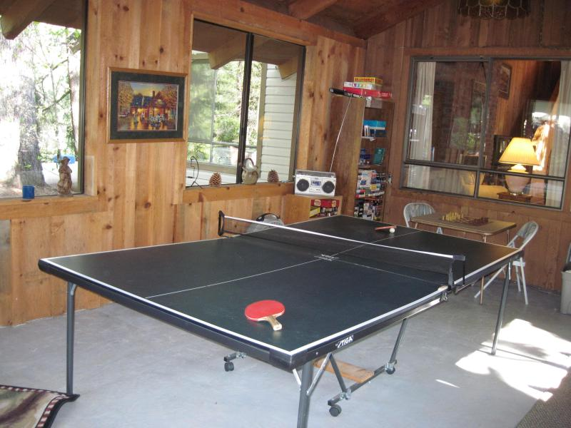 Rec Room With Ping Pong and Games