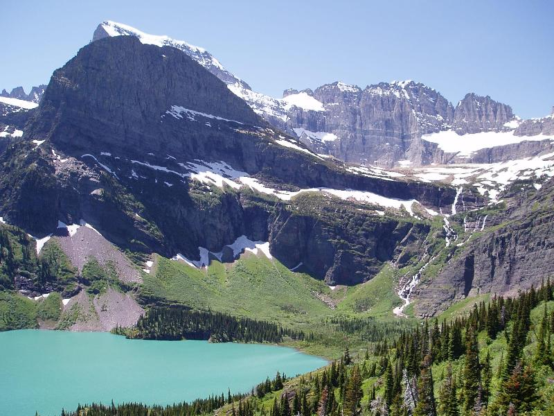 East Side, Grinnell Glacier and Lake