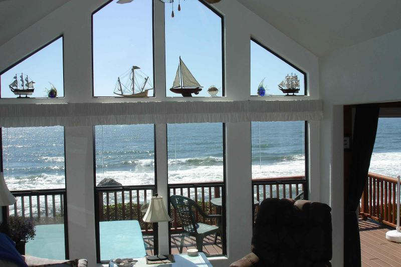 Enjoy the view from inside the living room. Feel at home with all the amenities!