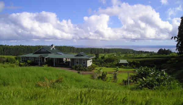 Kapehu Retreat House from hill above