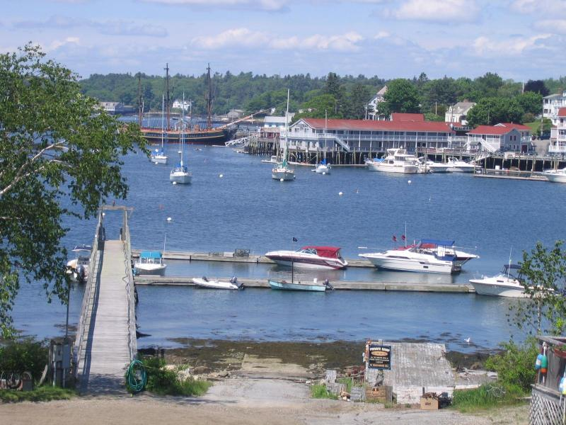 Beautiful day in Boothbay Harbor as seen from balcony