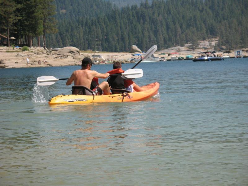 Rent a kayak, jet ski, boat or paddle boat at Shaver Lake