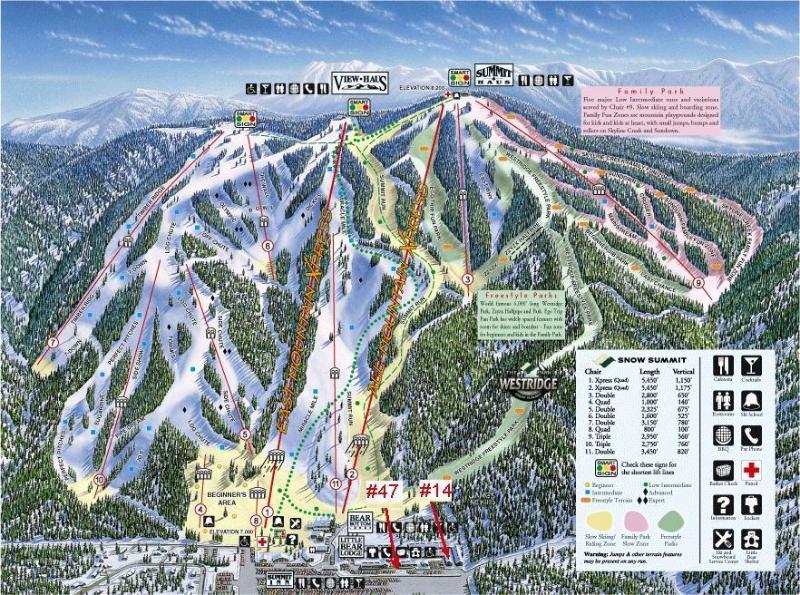 SNOW SUMMIT TRAIL MAP