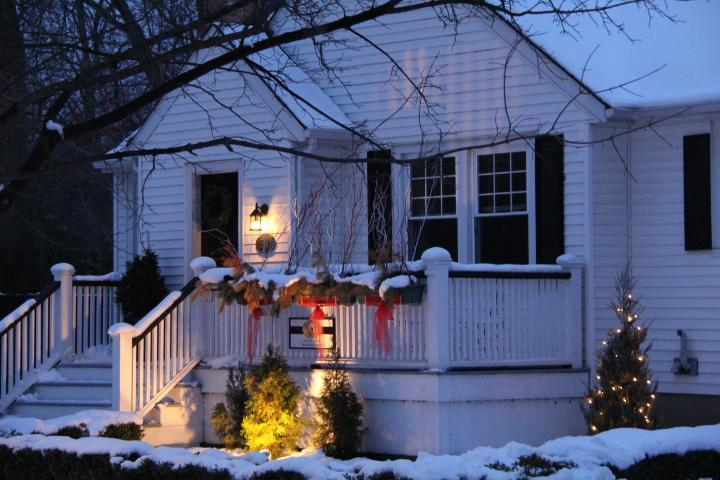 The Town Cottage in winter.