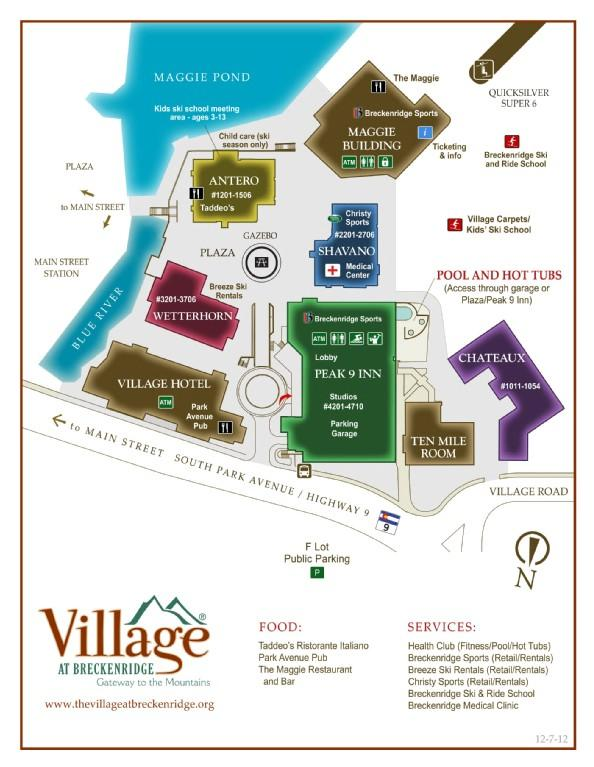 Village at Breckenridge Map