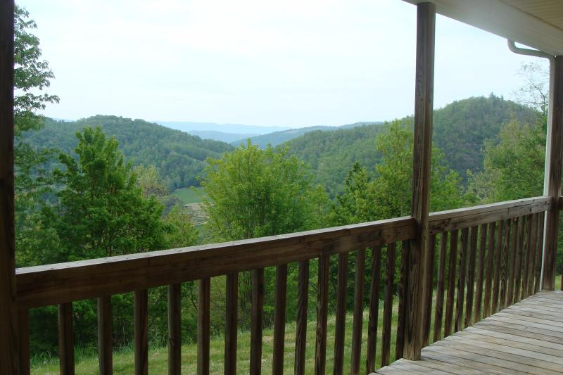 Your view off your deck on a hazy day.