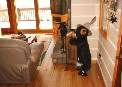 Cozy bear welcomes you to Beary Cozy