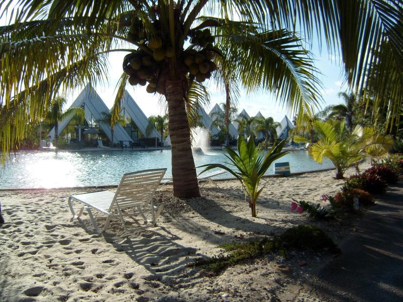 Your own beach at natural lake