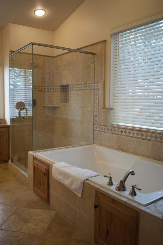 Bath and Jacuzzi in Master Bedroom
