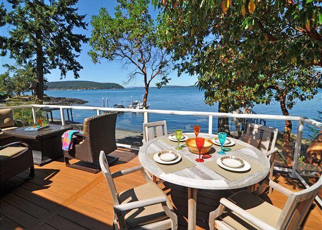 Enjoy fabulous views while you dine alfresco.