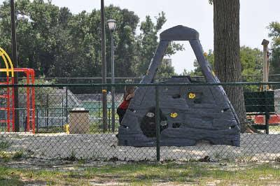 Playground - upgraded with lots of new equipment in 2010.