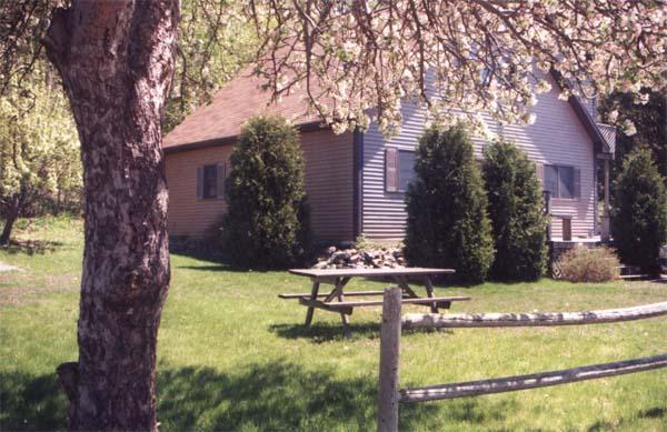Acadia View with lawn & apple tree