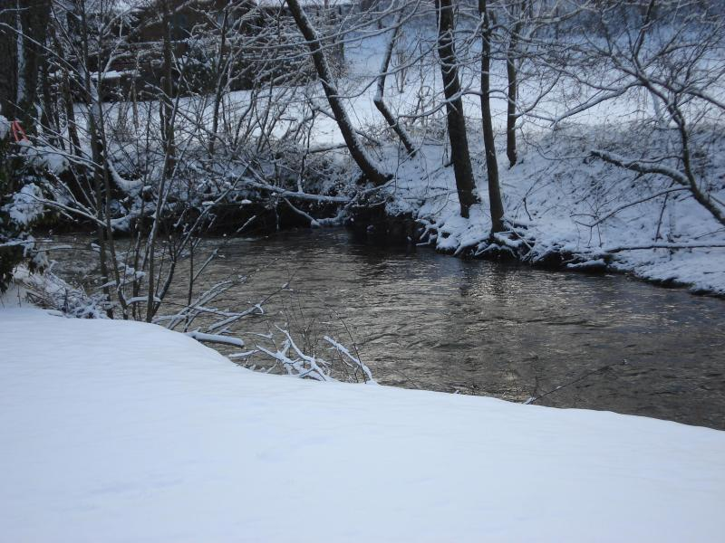 Even the water changes its look for the winter