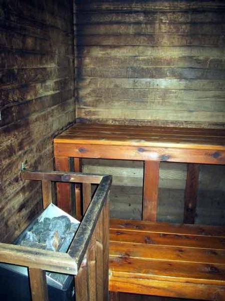 Sauna in clubhouse