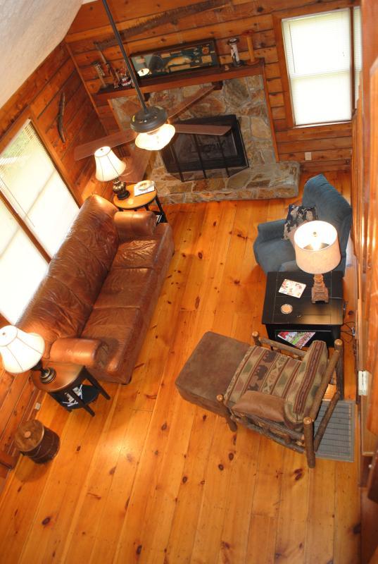 Loft view to livingroom