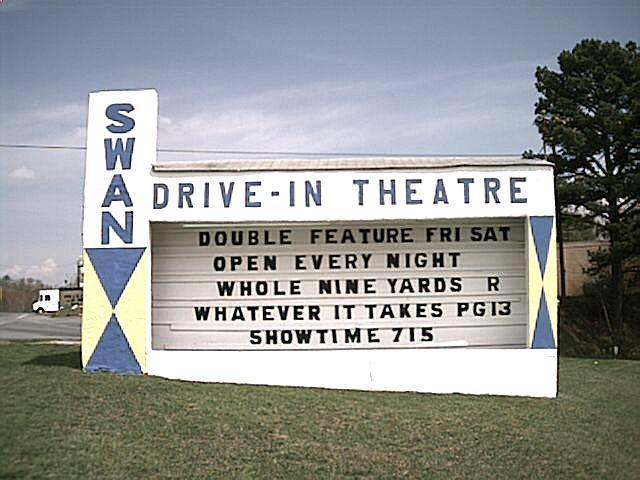 One of the last remaining drive-in theatres, and they play first run movies!