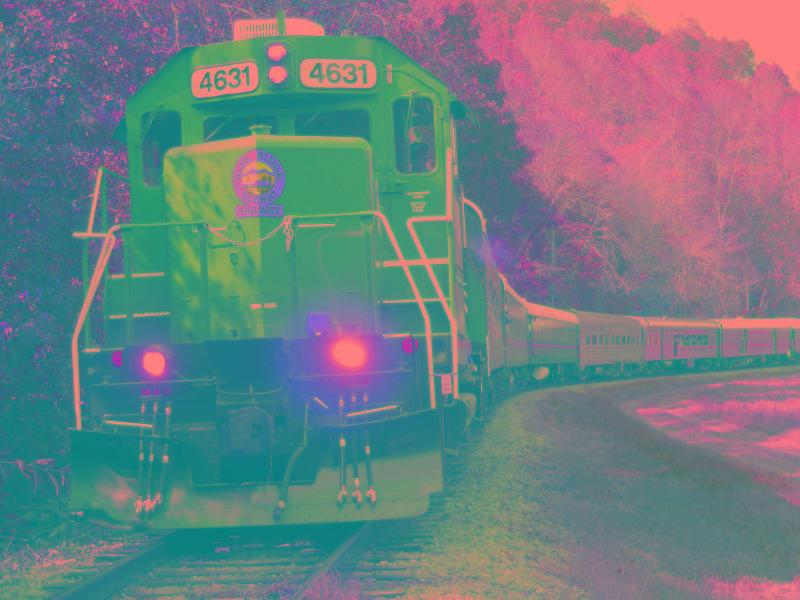 Take the kids on a train ride through the mountains to the state line!