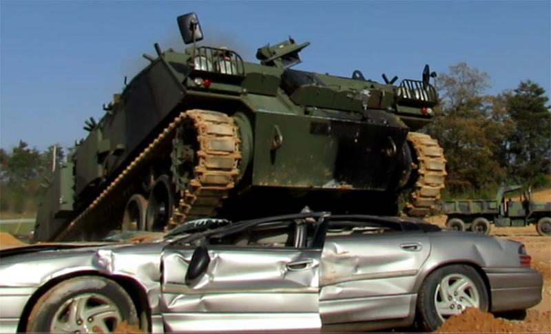 Did you know you can even rent a tank to drive over a car??