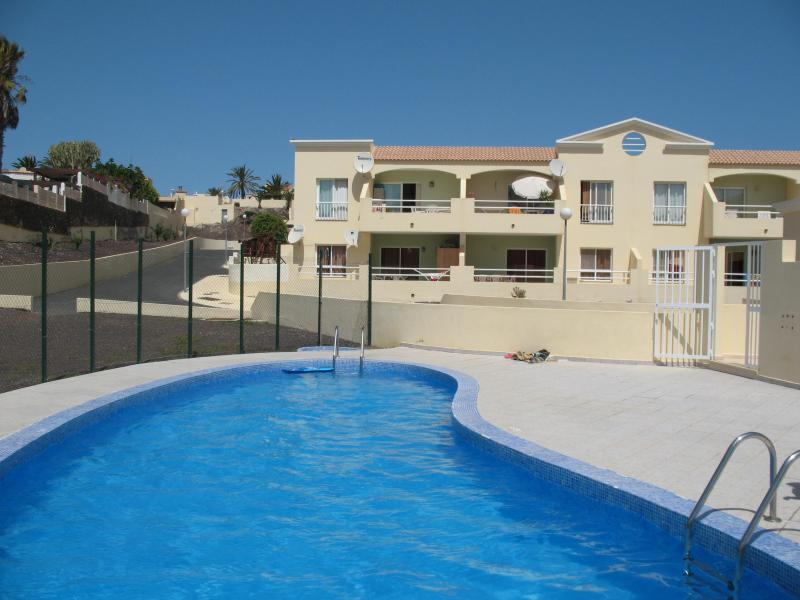 Casa Calma is the closest apartment to the near private pool!