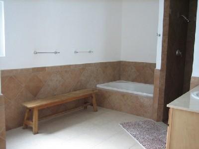 Master bathroom #1 Upstairs - Cozumel Vacation Rentals - Villa Coralina