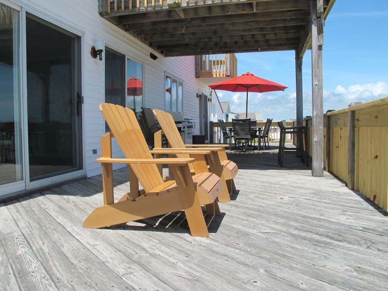 2nd level deck - great Adirondack chairs