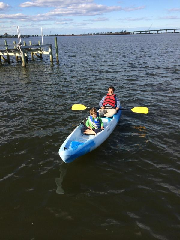 The house has 2 kayaks for our rental families to use