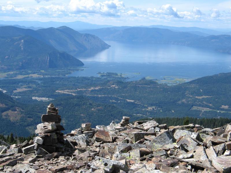 Vista desde el pico del escocés (sendero es sólo 30 minutos de la punta)