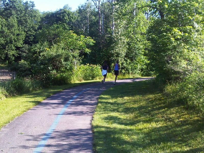 Runners on the Recreation Path