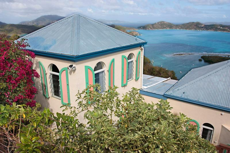 The villa Palladio's View sits elegantly on a hillside, offering spectacular East End & BVI views.