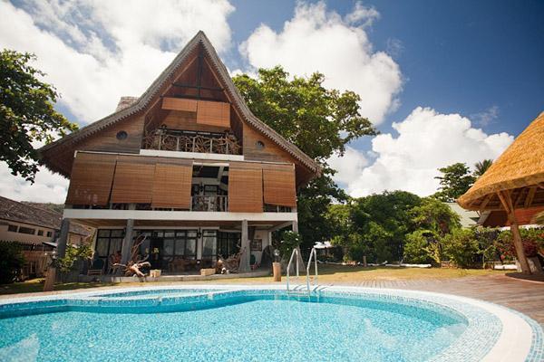 Luxury beachfront villa on La Digue, Seychelles, holiday rental in Seychelles