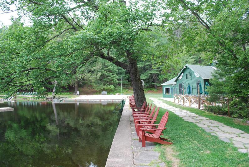 Merriewold lac, vue du Club House