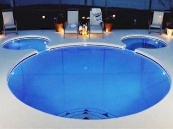 Mickey Pool with fibre optic lighting