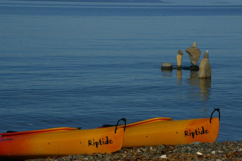 Kayak or fish along the tranquil shoreline