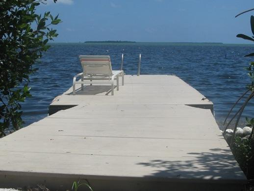 Floating dock for fishing, swimming, boat dockage.