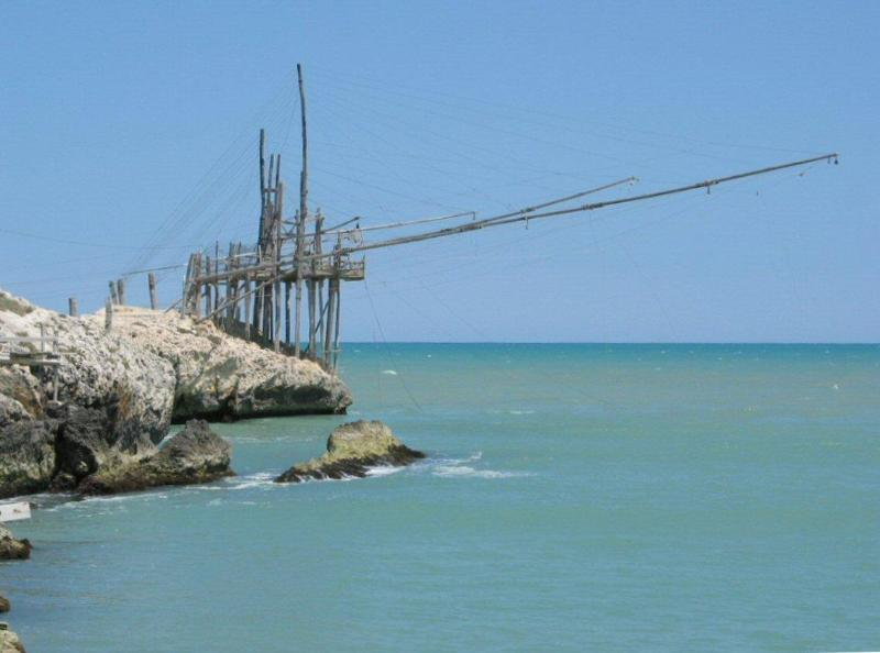 Trabucco - ancient wooden fishing platform, dating back to Phoenecian times