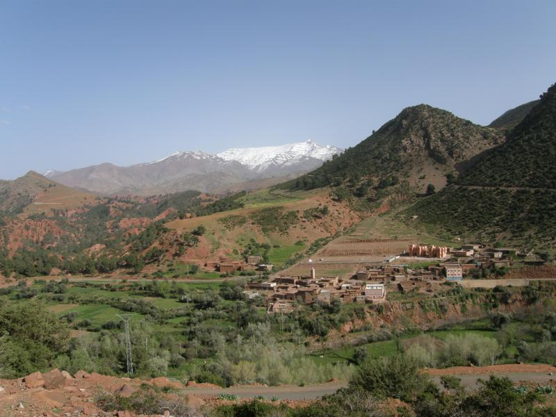 Mountains behind the village
