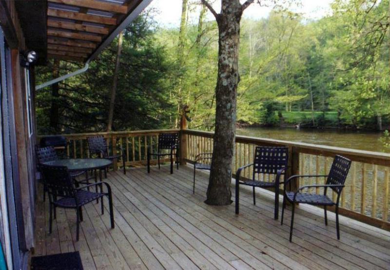 Riverside Retreat Deck View