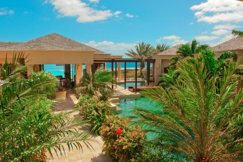 Two pools and every room has a panoramic view of the beach.