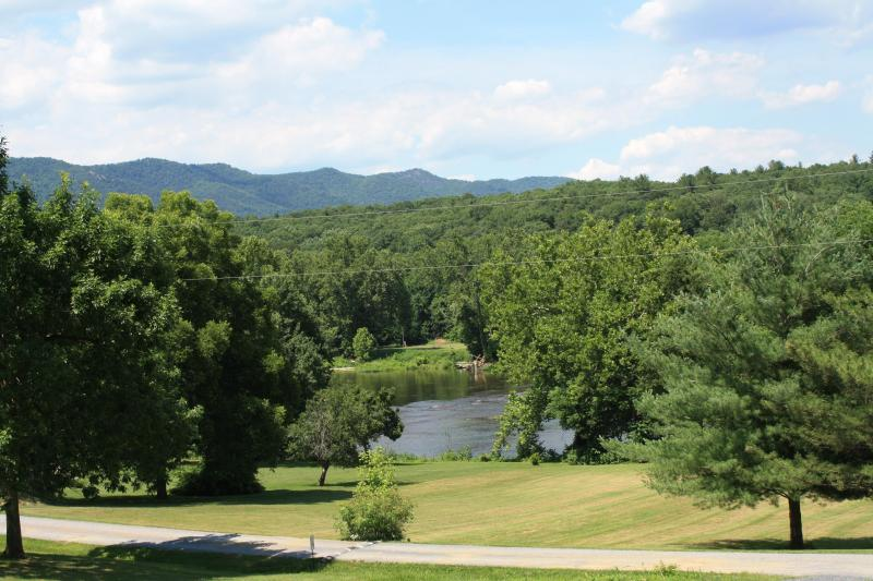 River and Mountain View from the screened in porch!