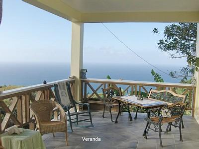 Verandah  (some exercise equipment at other end if you feel keen!)