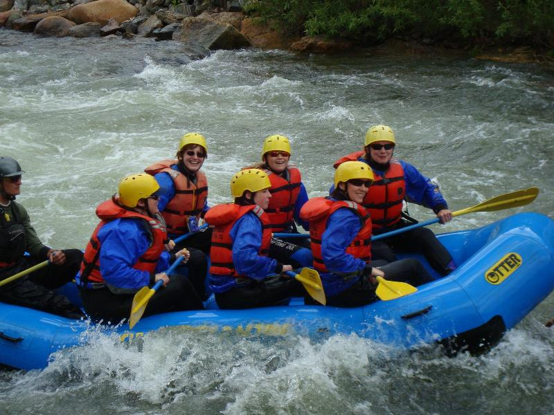WHITE WATER RAFTING ON CLEAR CREEK  IS ONLY 8 MI AWAY