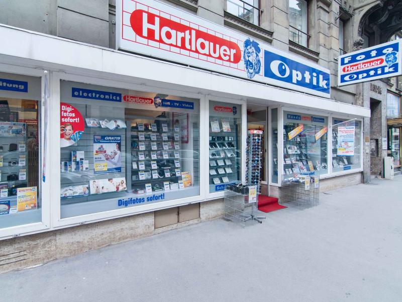 2 minutes walk: Hartlauer electronics/battery/photo shop on the Wipplingerstrasse