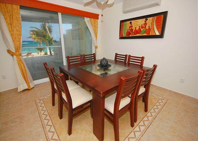 Dining with an ocean view, Villa Serenity
