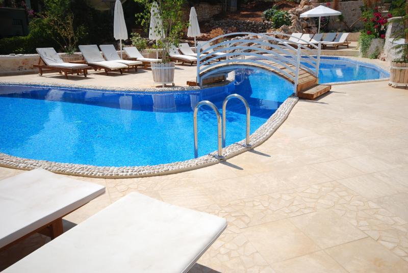 Main pool and sun terrace at Asfiya Retreat