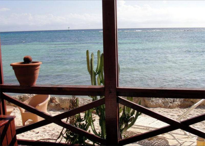 See the ocean on the porch