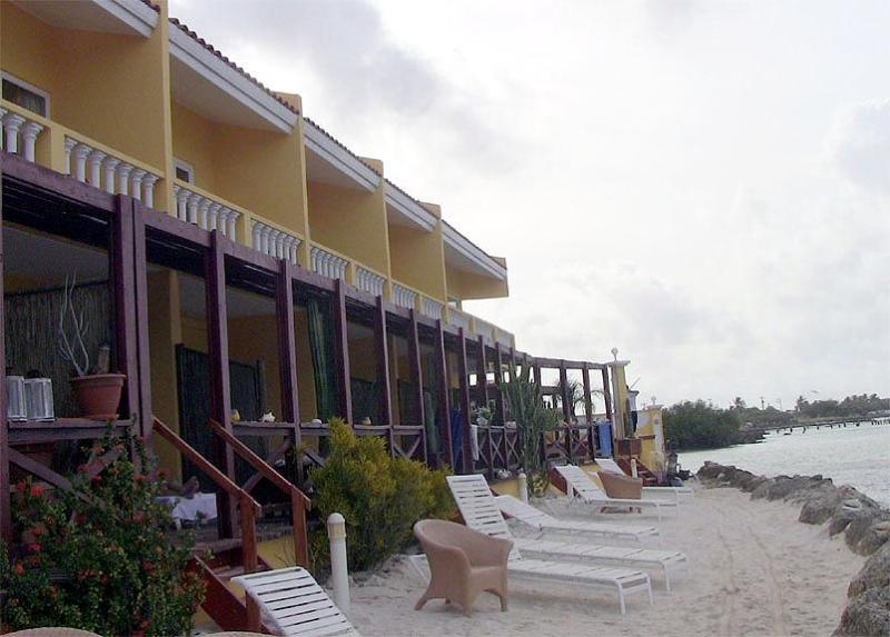 The beach in front
