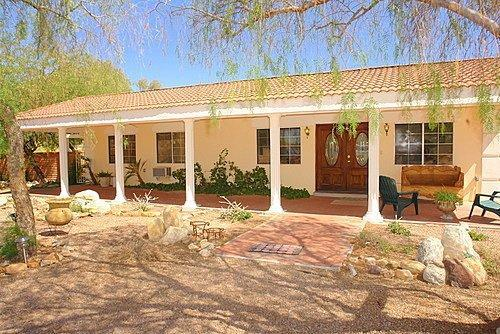 La Canada House Entry and Front Porch - House Vacation Rental with Private and Pool Patio Area in Tucson, Arizona