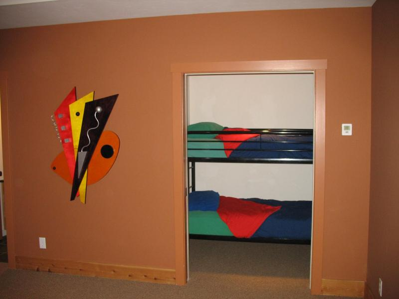 Bunk beds off rec room