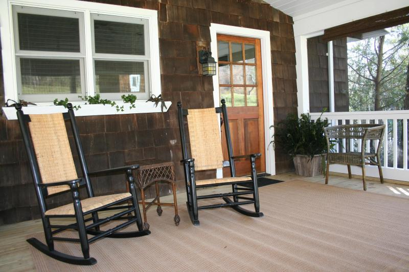 Relax while Rocking on your Private Screened Porch!