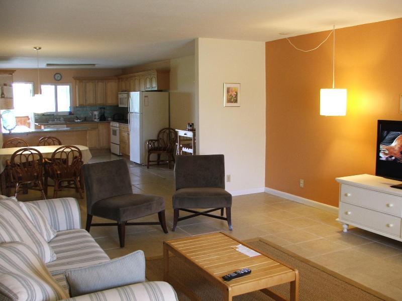Open plan living, eetkamer, keuken